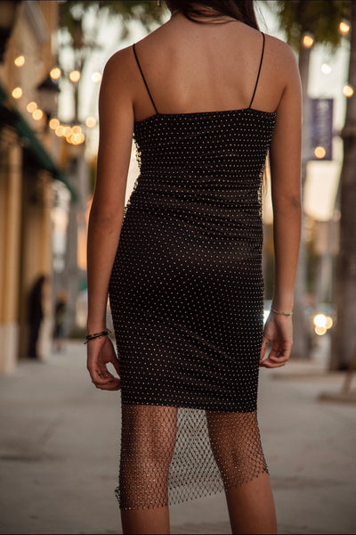 LIGHTS OUT MIDI DRESS