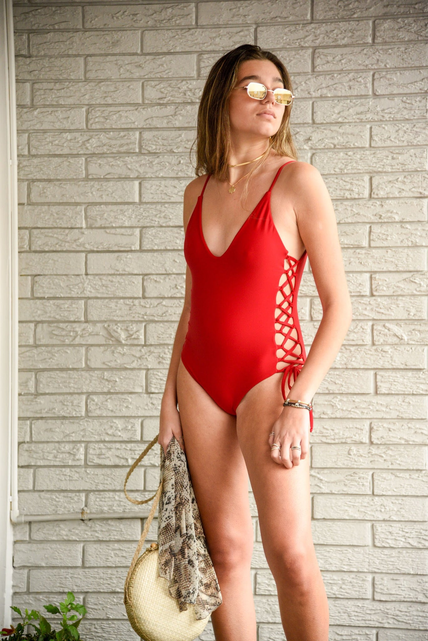 LA CIENEGA ONE PIECE ROJO