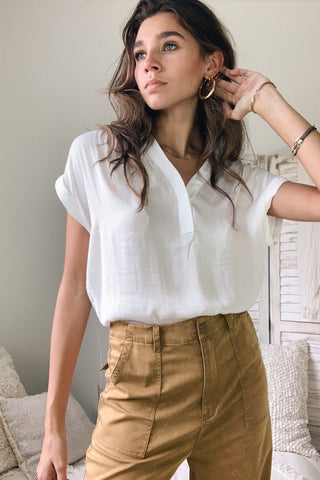 DOWNTOWN BLOUSE - WHITE