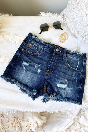 TAIS DENIM SHORTS DARKWASH