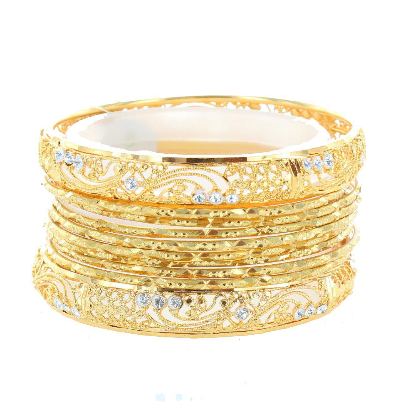 Smoky Diamond Indian Bangle-Indian Jewelry-indian bracelets-indian bangles online-One Mela