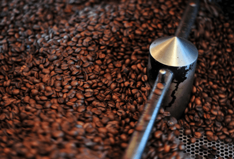 Coffee Beans Roasting In Machine