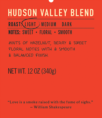 Hudson valley blend light roast coffee blend