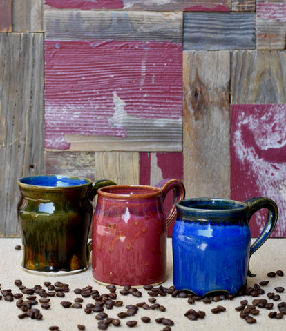Handcrafted Lp Pottery Mug