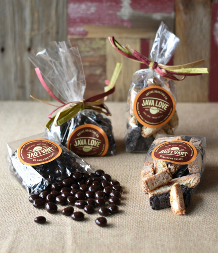 Mini Biscotti Trio & Dark Chocolate Covered Espresso Beans