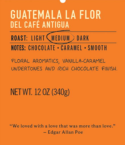 guatemala la flor medium roast coffee