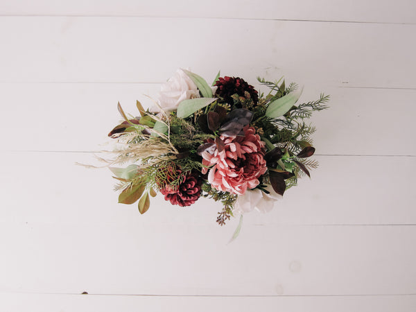 Fall Field + Floral Arrangement
