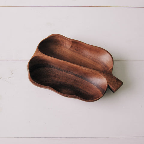 Wooden Divided Dish 1