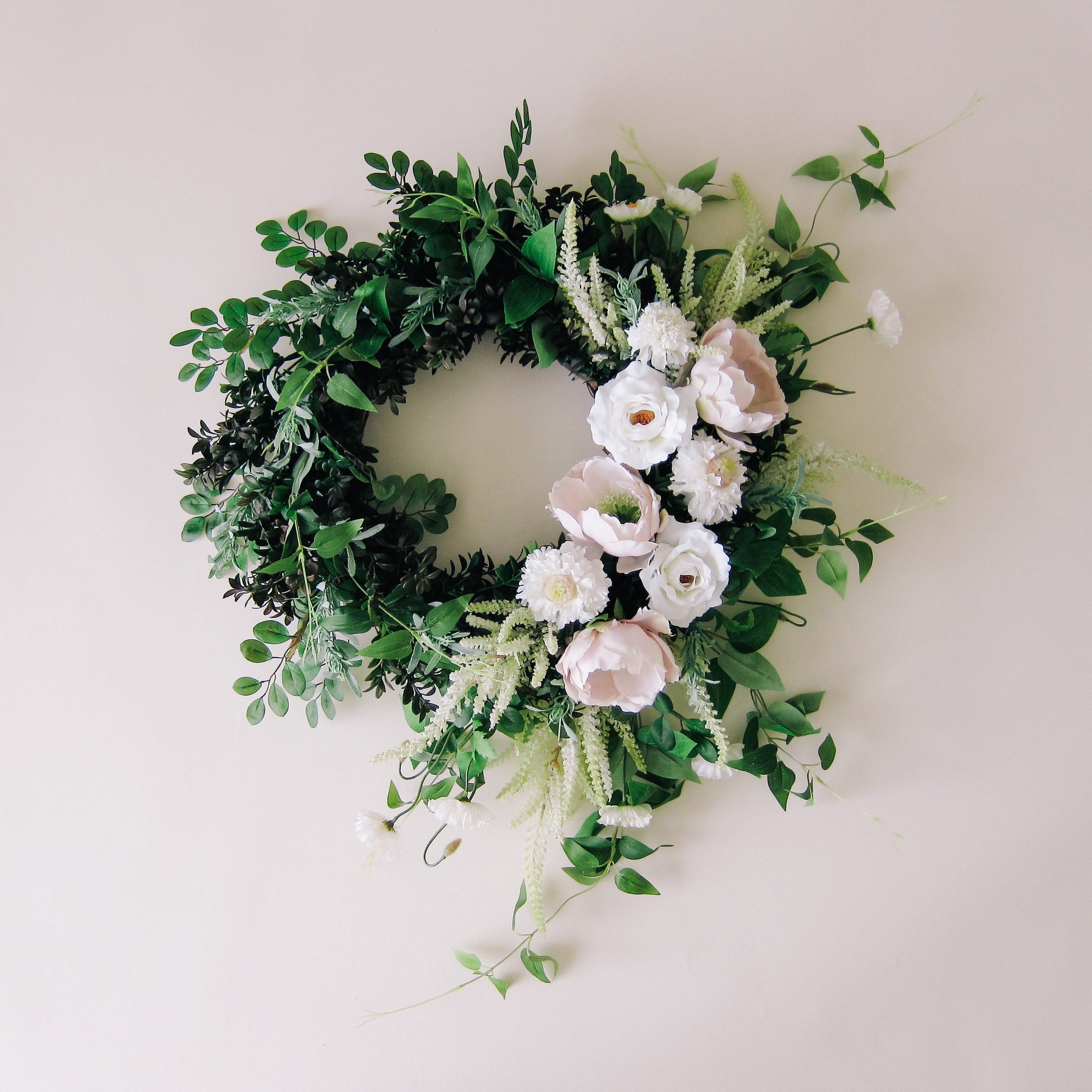 Neutral Spring Floral Wreath