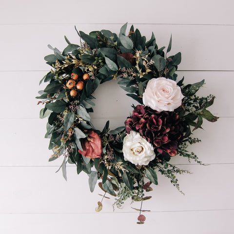 Fall Moody Floral Wreath
