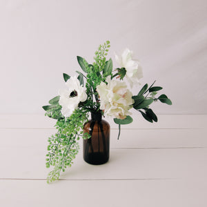 Anemone Small Floral Bundle with Amber Vase
