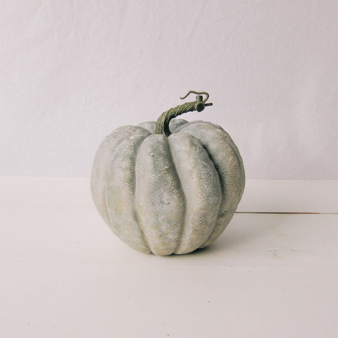 Blue Grey Decorative Pumpkin
