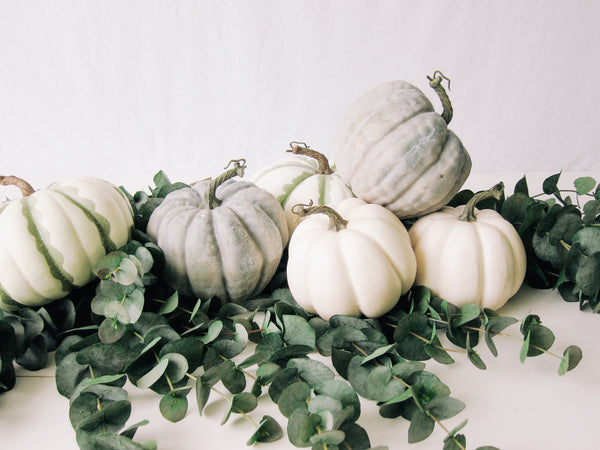 White Decorative Pumpkin