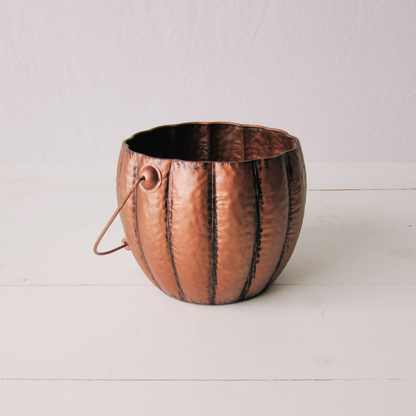 Copper Pumpkin Bucket