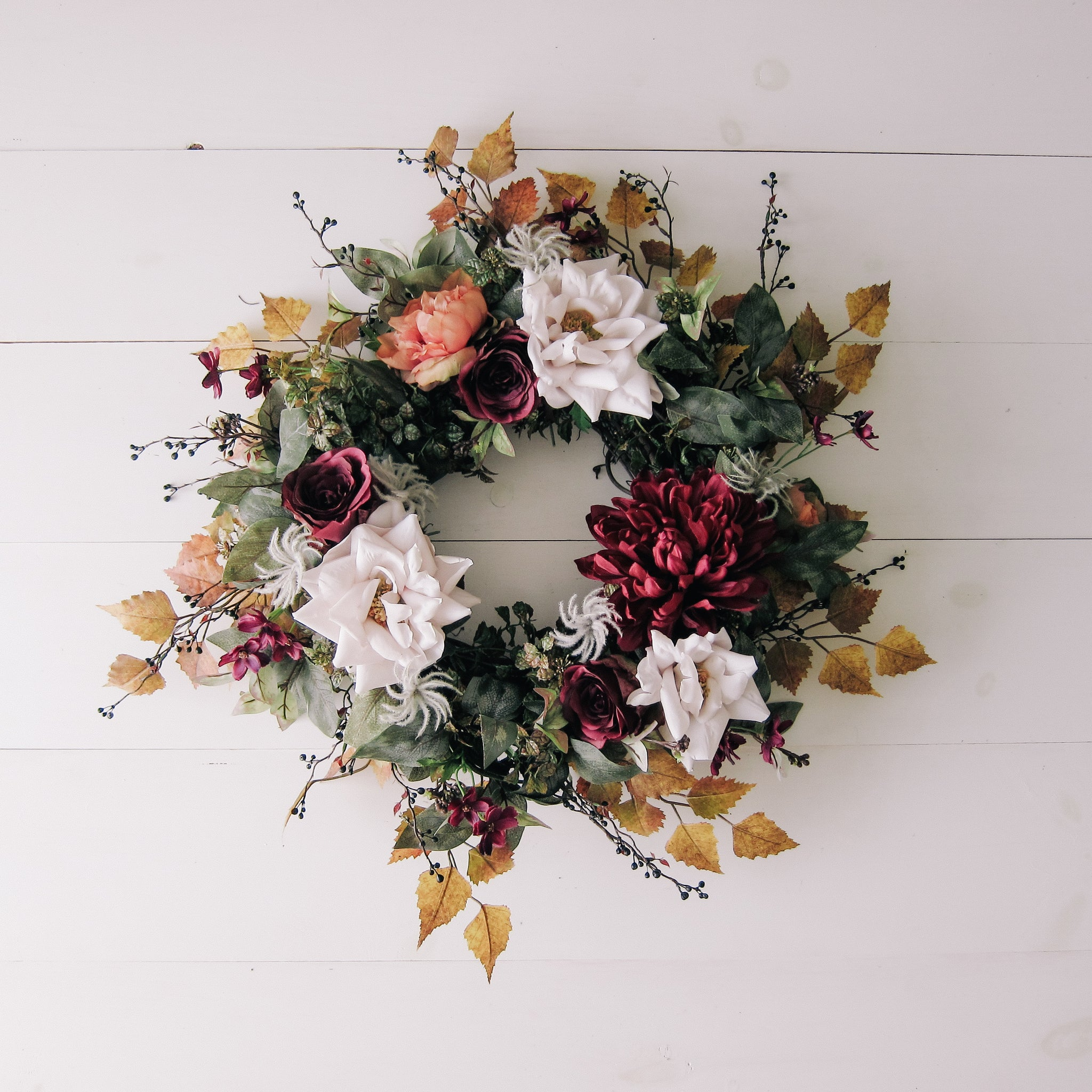 Fall Vibrant Floral Wreath