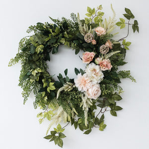 Blush Dahlia Wreath