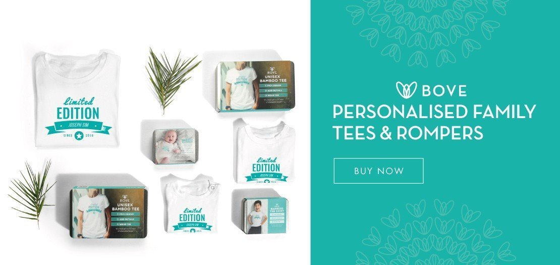 Get Your Personalised Family Tee & Baby Rompers here!