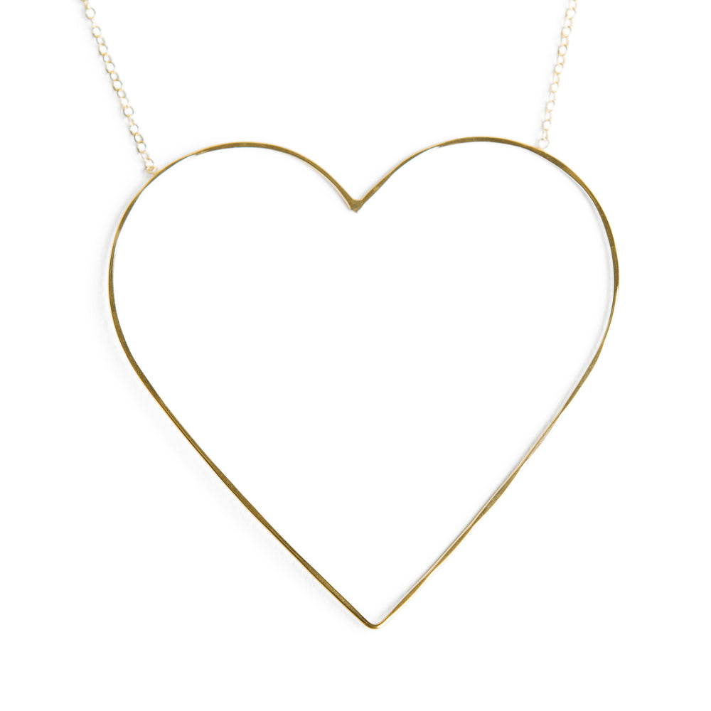 Large Heart of Gold Necklace
