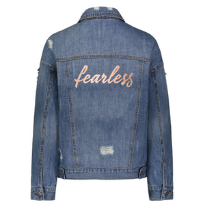 Fearless Denim Jacket in Rose Gold
