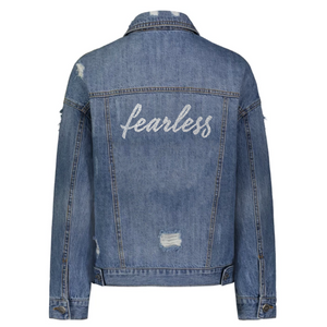 Fearless Denim Jacket in Silver