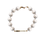 White Pearl Grace with Grip Bracelet
