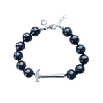 Black Pearl Hammer Home Your Message Bracelet