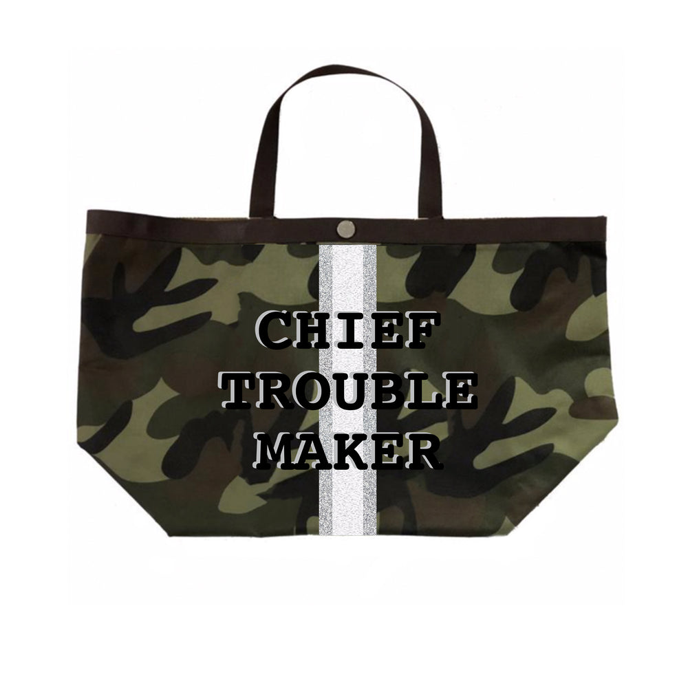 Camo Chief Troublemaker Tote in Black