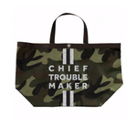 Camo Chief Troublemaker Tote in Silver
