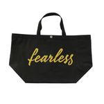 Black Fearless Tote in Gold