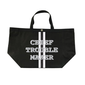 Chief Troublemaker Tote in Silver