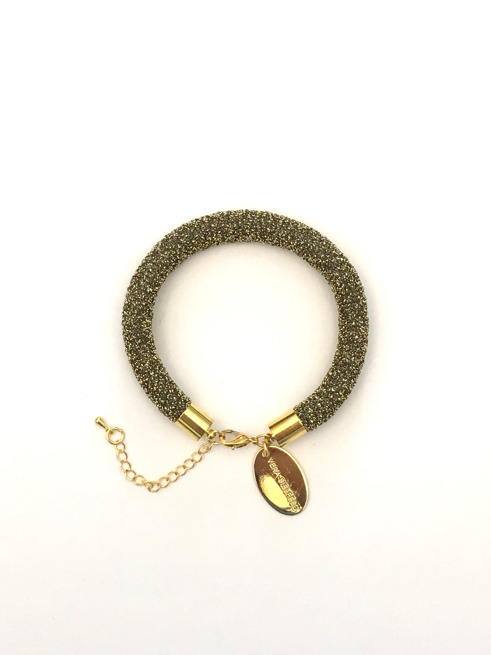 PULSERA SIMPLE dorado lurex brillo