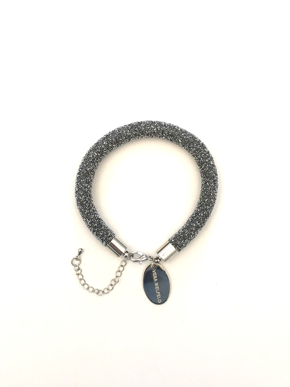 PULSERA SIMPLE plateado lurex brillo