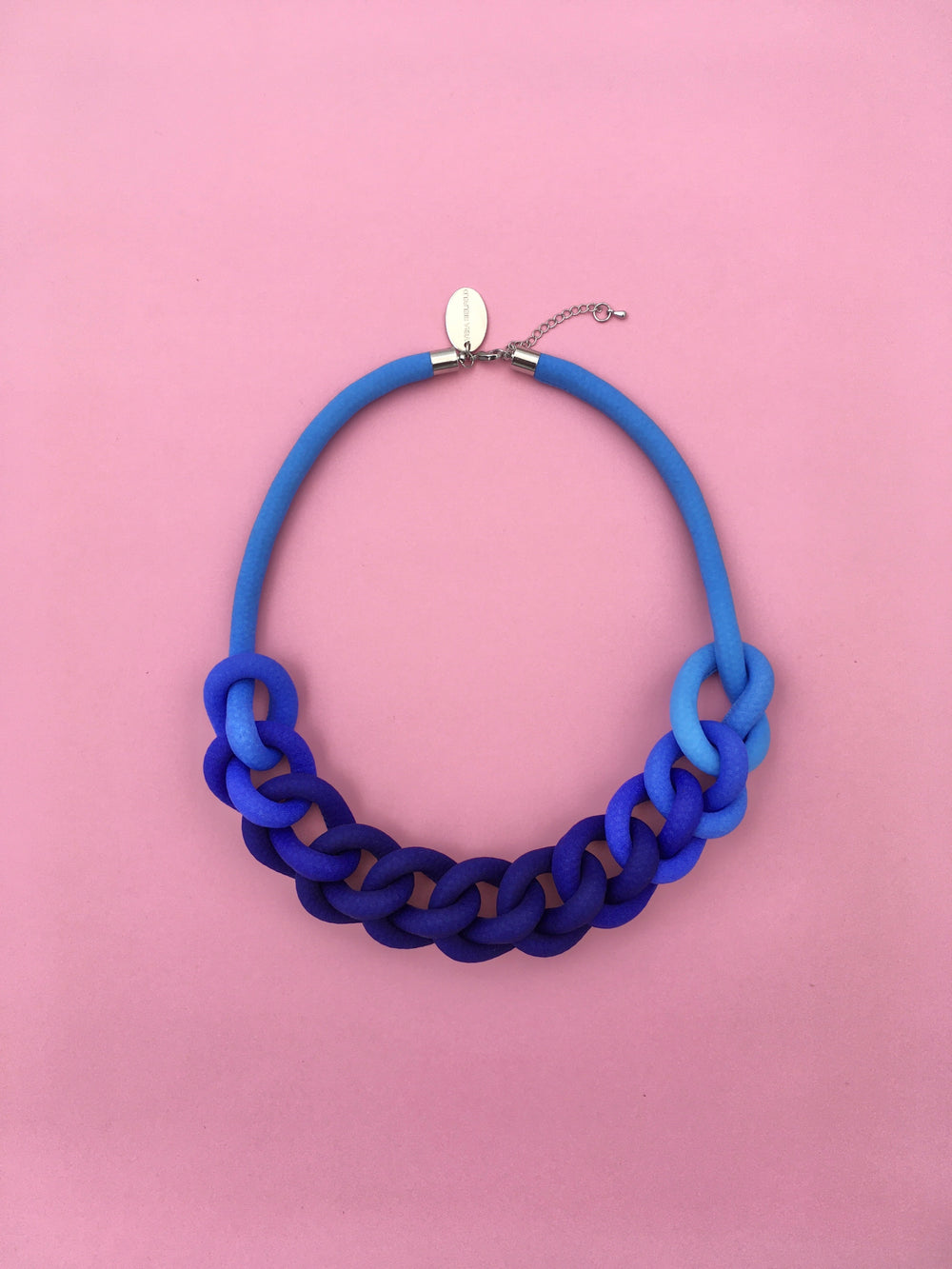 COLLAR CADENA degradé azul