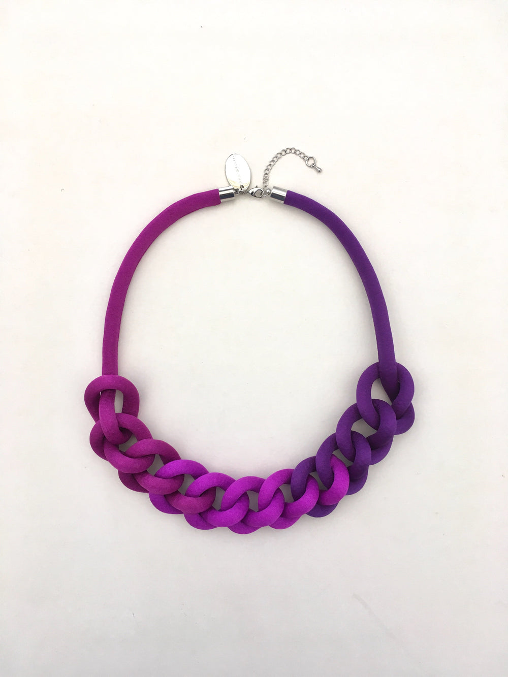 COLLAR CADENA degradé morado
