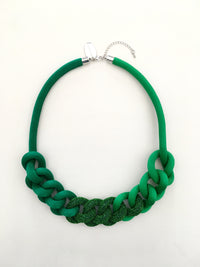 Collar Cadena degradé verdes y lurex