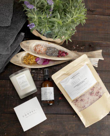 Made by Coopers, relaxing and soothing well ness range