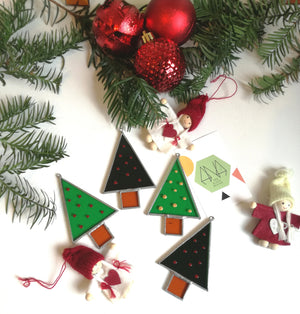 Litlle Christmas Tree Deco' - Ana Glass Design