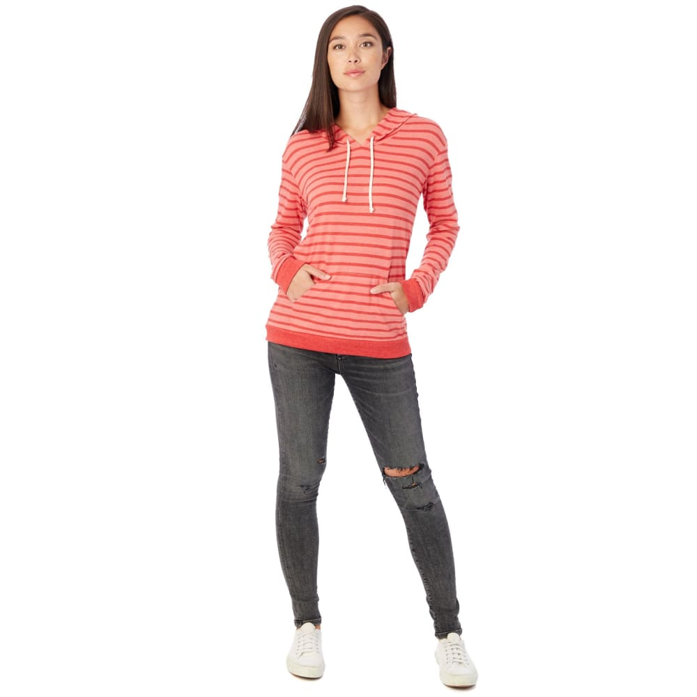 AA Classic Eco-Jersey Pullover Hoodie - Coral / X-Large - Clothing