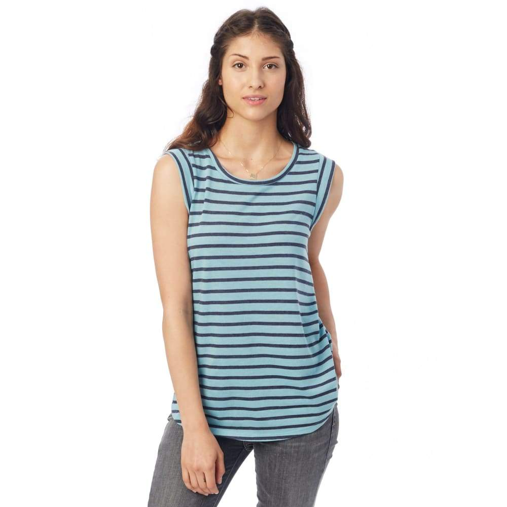 AA Eco-Jersey Crew Muscle Shirt - Sea Breeze / X-Small - Clothing