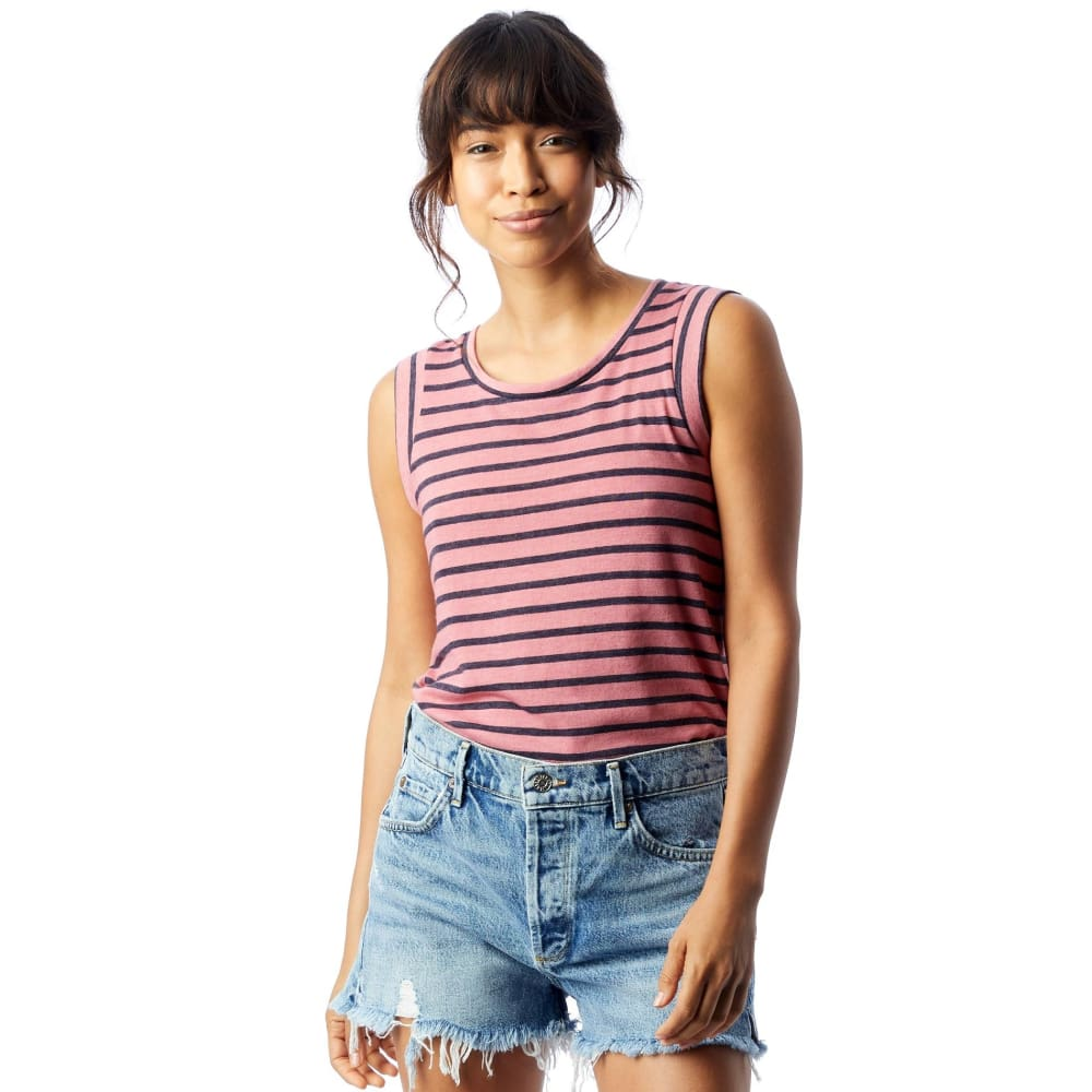 AA Eco-Jersey Crew Muscle Shirt - Washed Rose / X-Small - Clothing