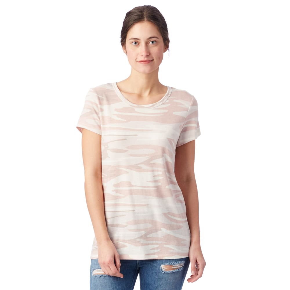 AA Eco-Jersey T-Shirt Ideal Printed - Blush Camo / X-Small - Clothing