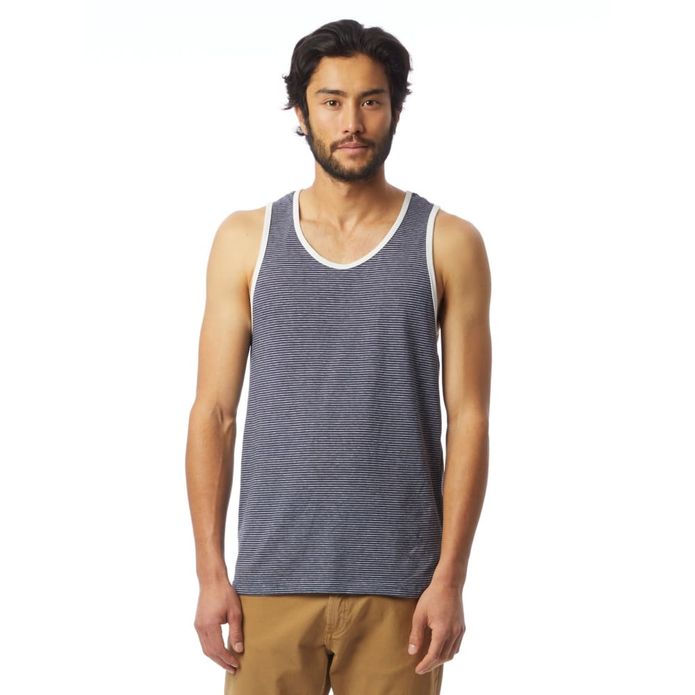 AA Eco-Jersey Tank Top Men Marine - Seaside Stripe / X-Small - Clothing