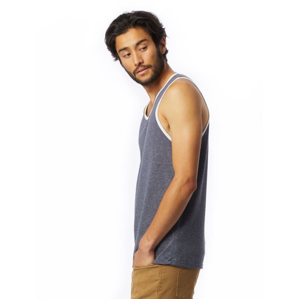 AA Eco-Jersey Tank Top Men Marine - Clothing