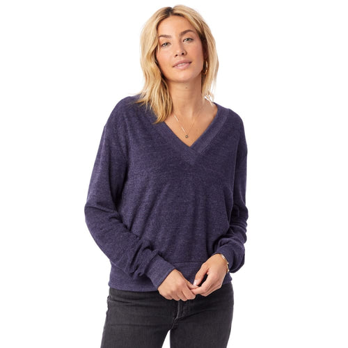 AA Eco Pullover Toweling Deep V - Eco True Midnight / X-Small - Clothing