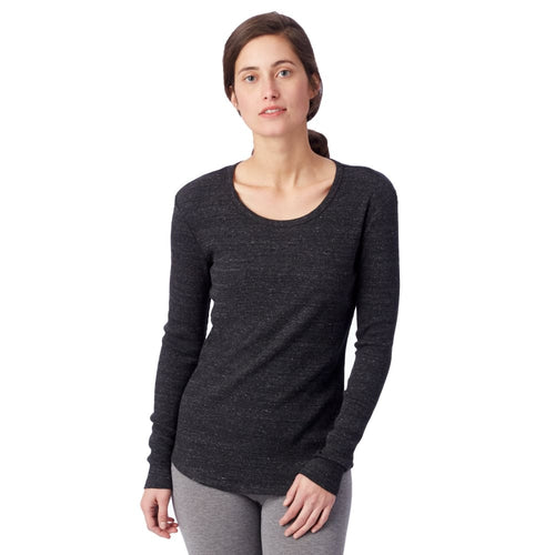 AA Eco-Rib Long Sleeve - Eco-Black / X-Small - Clothing