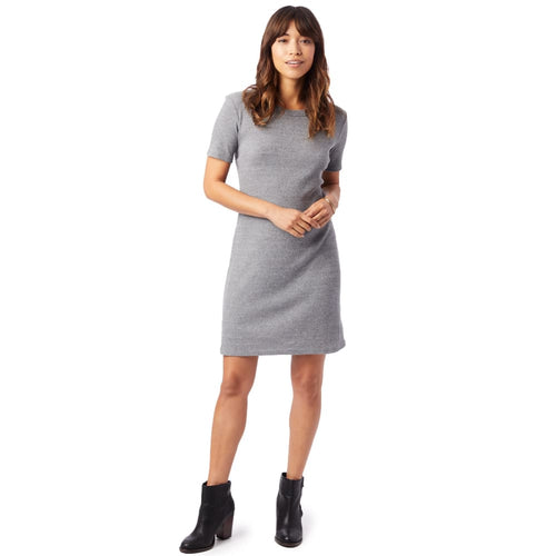 AA Eco-Rib T Shirt Dress - Eco-Grey / X-Small - Clothing