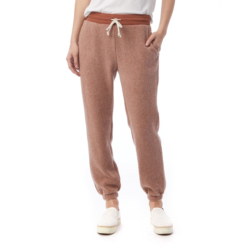 AA Eco-Teddy Sweatpant - Eco Nutmeg Brown / X-Small - Clothing