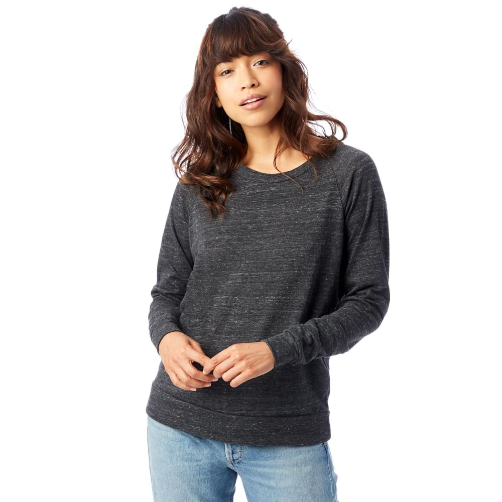 AA Slouchy Eco-Jersey Pullover - Eco Black / X-Small - Clothing