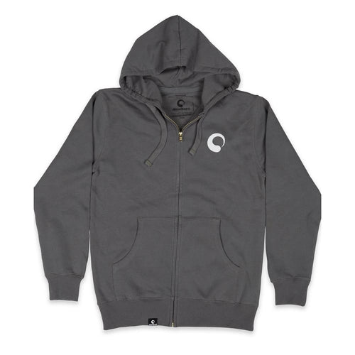 AB Hoodie Full-Zip Organic Ecoblend - Dark Gray / Small - Clothing