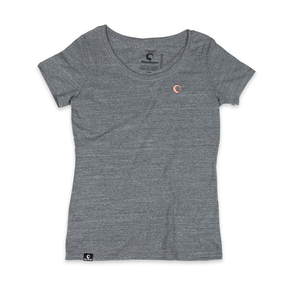 AB Shirt Scoop Neck Triblend - Gray / X-Small - Clothing